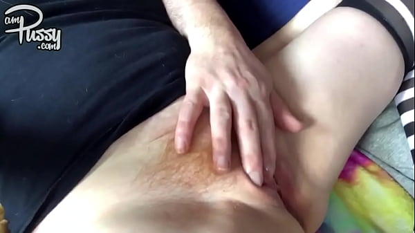 Playing with amateur redhead pussy
