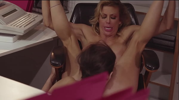 Intern And Lesbian Boss Do It In The Office - April O'neil and Alexis Fawx