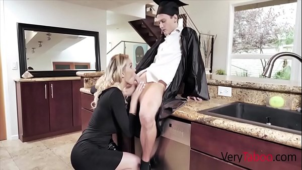 Blonde Mom Gives Son His Graduation gift- Kenzi...