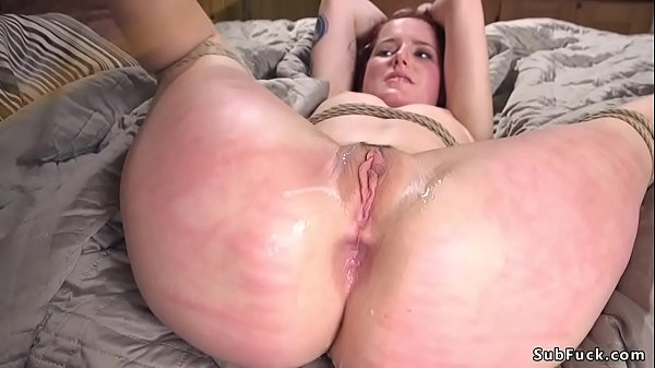 Slave is flogged and fucked