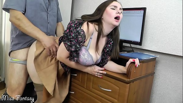 Wife cheating on husband at work with the boss