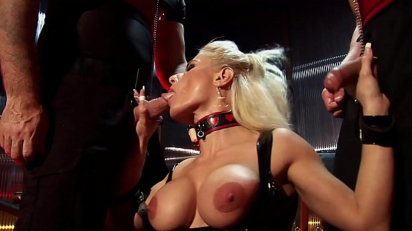 Kinky Swingers Club Rough Throat & Ass Fucking Group Sex. Anal and Deepthroating Gangbang in a Fetish Dungeon Thumb