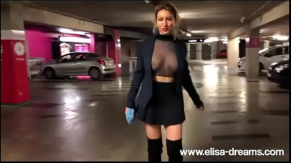 Flashing No Panties By Going To The Cinema