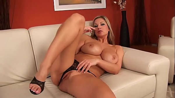 Hot blonde with wet juicy pussy