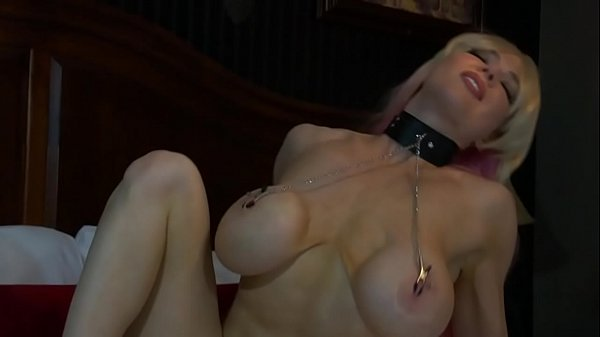 Double Penetration Wearing Nipple Clamps