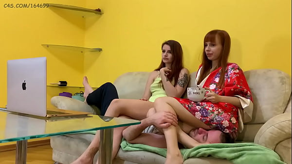 Two Petite Mistresses Use Their Couch Slave For Uninterrupted Long-Term Ignoring Face-Sitting and Stomach-Sitting (Preview