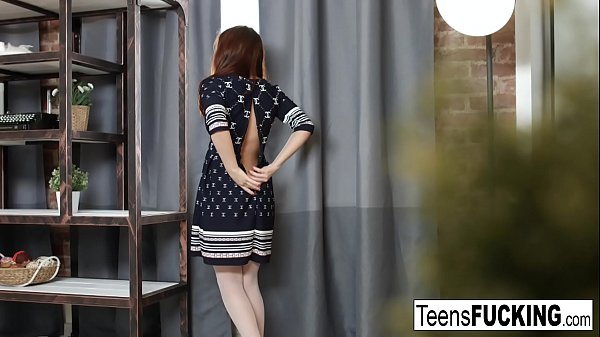 Beautiful teen brunette gets her tight ass pounded