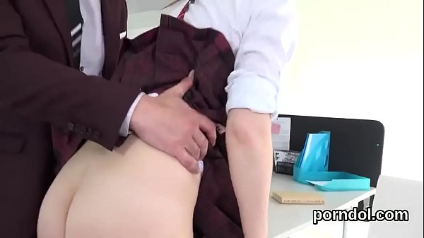 Sweet schoolgirl is tempted and drilled by elde...