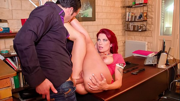 LA COCHONNE - Big boobs French redhead Julie Va...