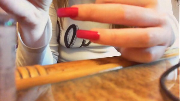 Asmr long nails video sexy hands and nails Thumb