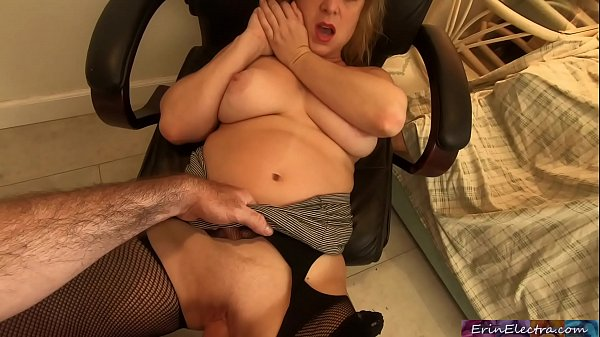 Stepmom fucked by stepson while she's talking on the phone - Erin Electra Thumb
