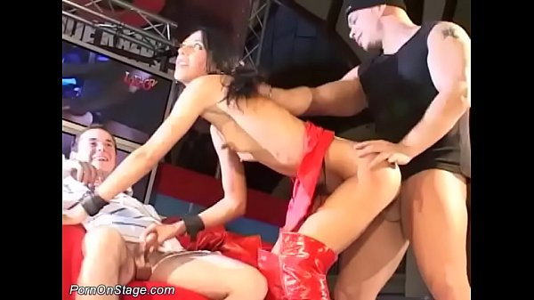 real big cock fuck on public stage