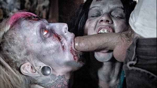 Excellent Zombie with big boob porn really