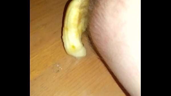Toy in ass Banana falls out Thumb
