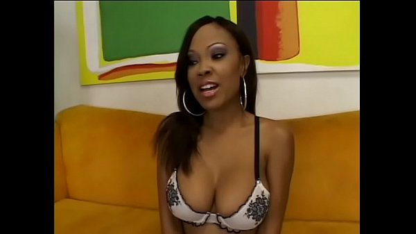 Ebony beauty Lacey DuValle blows stud and then gets banged doggy style