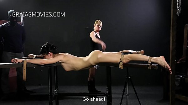 Harsh back and ass whipping
