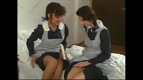 Schoolgirls threesome...Anal