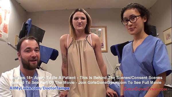 Alexandria Riley's Gyno Exam Captured By Spy Cam With Doctor Tampa & Nurse Lilith Rose @ GirlsGoneGyno.com! - Tampa University Physical