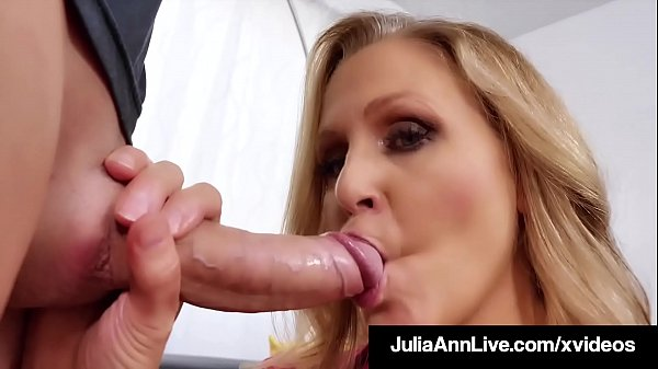 Busty Blonde Milf Julia Ann Mouth Fucks A Rock ...