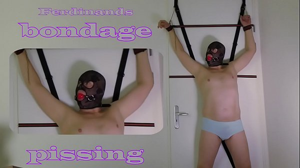 BDSM Bondage Pissing desperate man bondage tied up peeing. Kinky Male Wet and Pissy from Holland.