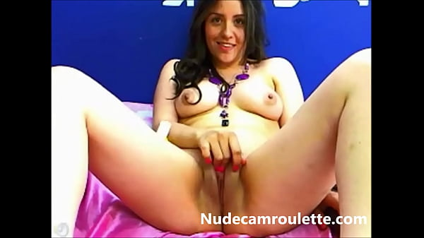 Beautiful brunette playing with her pussy on cam - chat with her live on Nudecamroulette.com