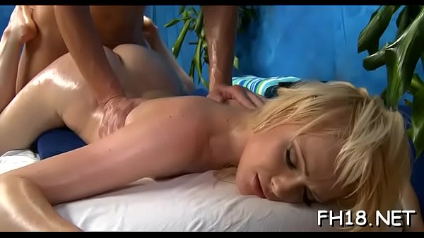 Sexy 18 year old girl gets fucked hard from behind by her masseur