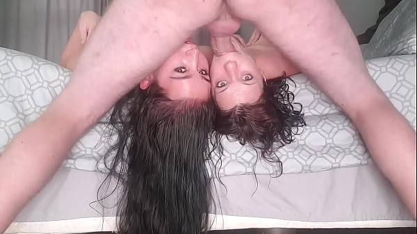 two girls get facefucked