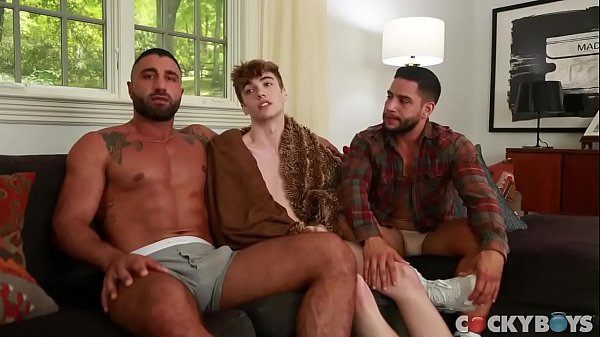 Two arabs fucking a white twink