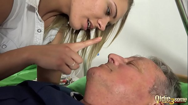 Nurses have sex with patient in his room an old...