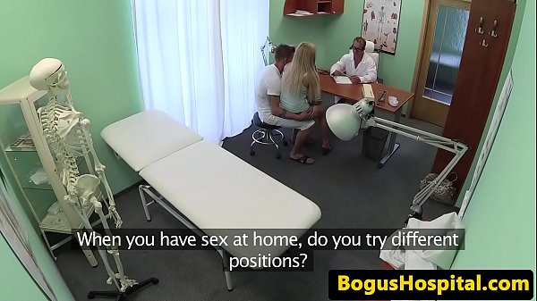 Real couple banging during medical exam