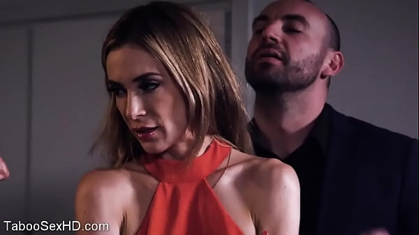 Beautifull girl fucked by stepdad and son