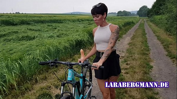 Premiere! Bicycle fucked in public horny!