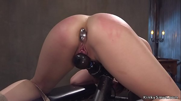 Nasty hot brunette has anal bdsm fuck