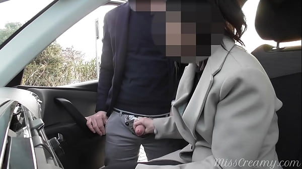 Dogging my wife in public car parking and jerks off an voyeur after work - MissCreamy Thumb