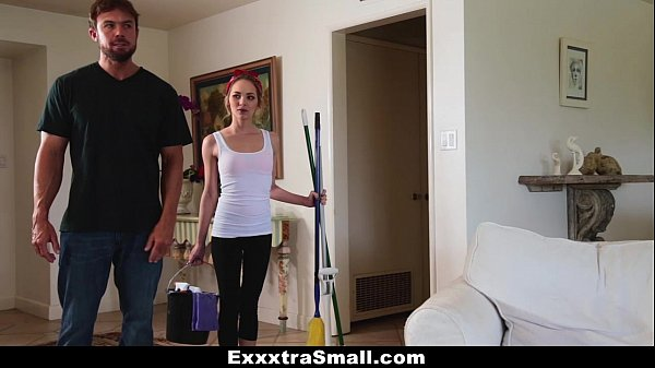 ExxxtraSmall - Petite Maid (Angel Smalls) Gets Fucked For Money Thumb