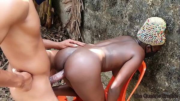 Tall black bitch with nice boobs fucked by a light skinned dude with a 12 inch cock