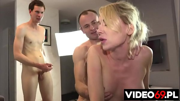 Polish porn - One girl fucked by two guys