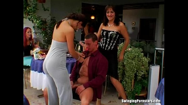 Elegant whores take dicks at party