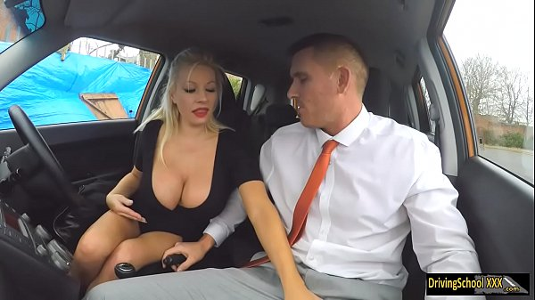 Busty blonde examinee fucked by examiner