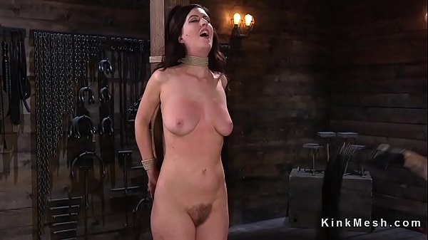 Hogtied brunette nipples tormented Thumb