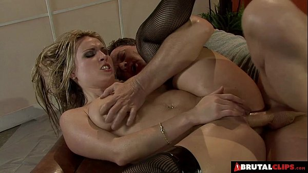 BrutalClips - Rough Throat and Anal Fucking Thumb