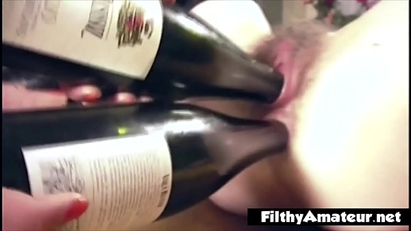 Sluts try one sticks a bottle in the ass and one in the pussy Thumb