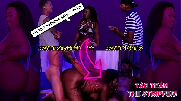 """Get Her Loose, She Be Down to FUCK"" - 2 Guys Plot to Fuck Stripper Imani Seduction - CUMSHOT FACIAL THREESOME"