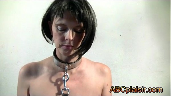 The BDSM collar of a submissive bitch