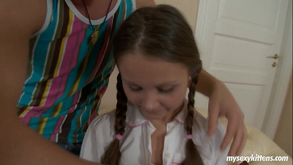 Pigtailed teen Liza gets ass fucked and cummed Thumb