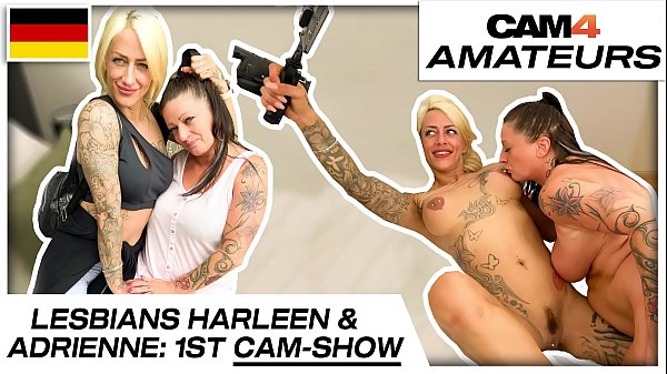 Harleen van Hynten and Adrienne Kiss: Naughty lesbian cam sex fun with 2 needy bitches! Cam4.com Thumb