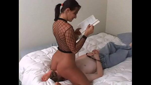 Sandra Romain dominates her male slave by s. him with her pussy and ass and making him tongue fuck her ass until she cums Thumb