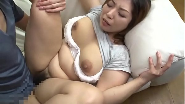 Japanese step mom by son while cleaning