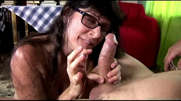 Cock hungry old spunker sucks and fucks for a mouthful of cum Thumb