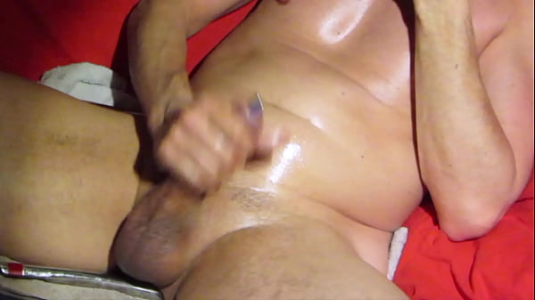 Close up version of a jerk-off session on cam